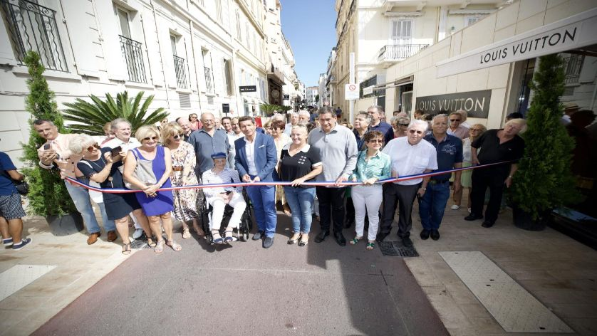 Inauguration of the new street Macé of Cannes